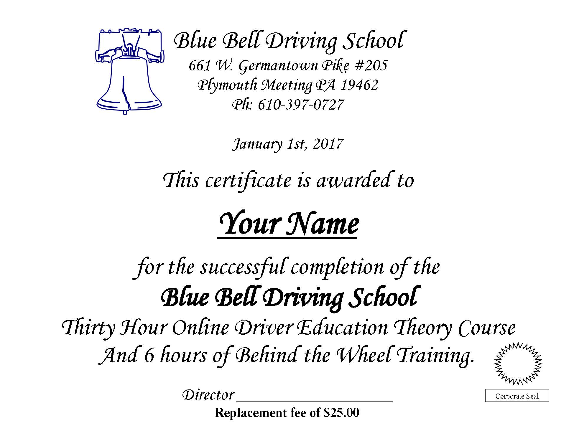 Blue Bell Driving School Driving Lessons In Montgomery County Pa